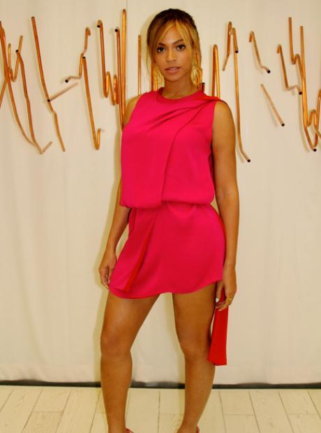 Beyonce Pink dress