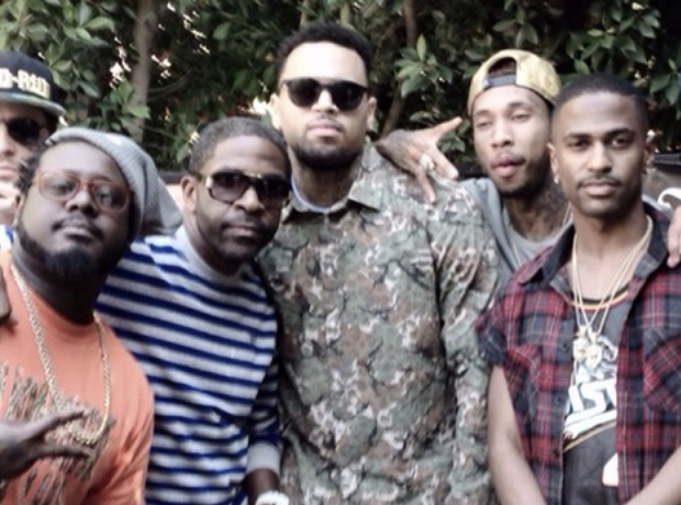 Chris Brown T Pain Tyga Big Sean party