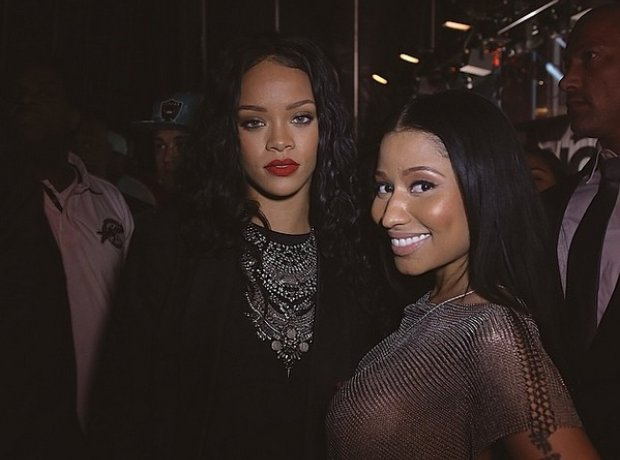 Nicki Minaj and Rihanna backstage at Summer Jam