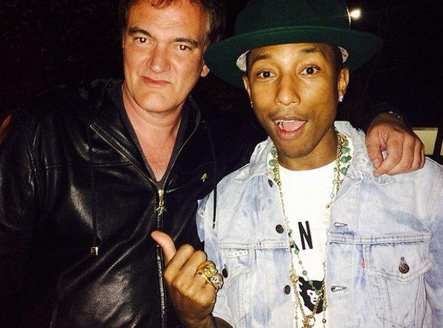 Pharrell Williams with Quentin Tarantino