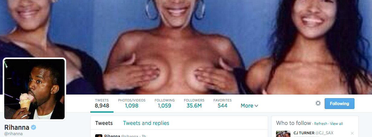Rihanna TLC Twitter Screengrab