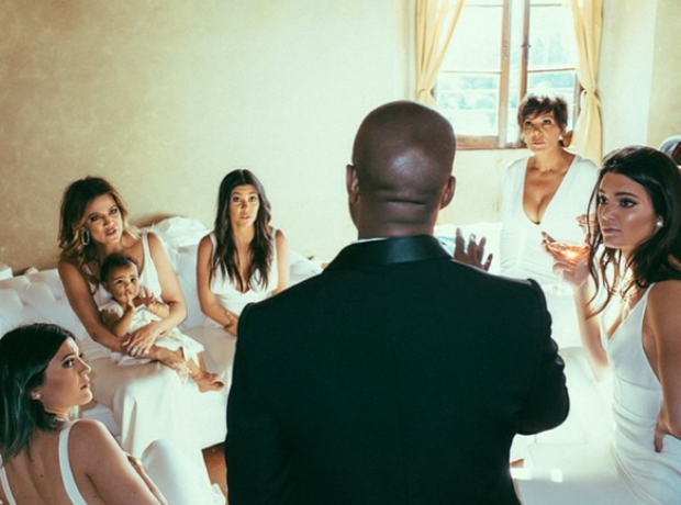 Kanye West Kardashian Family Wedding