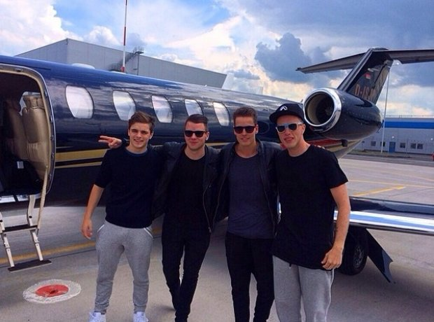 Martin Garrix Private Jet with Nicky Romero