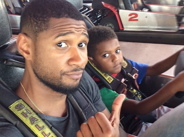 Usher and Son selfie