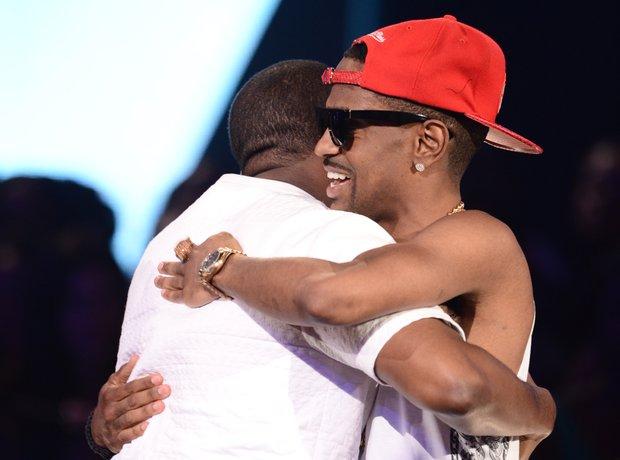 Big Sean Kanye West hugging