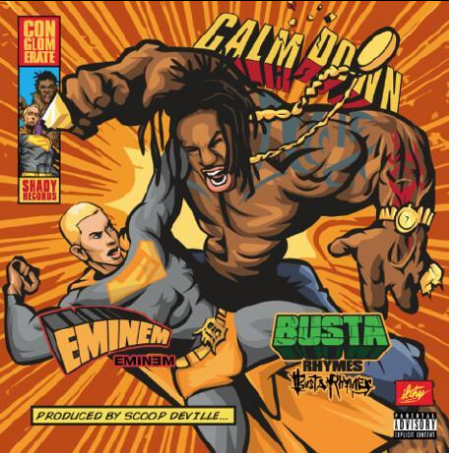 Busta Rhymes Eminem Calm Down artwork