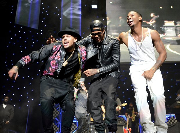 Chris Brown, August Alsina, Trey Songz at the BET