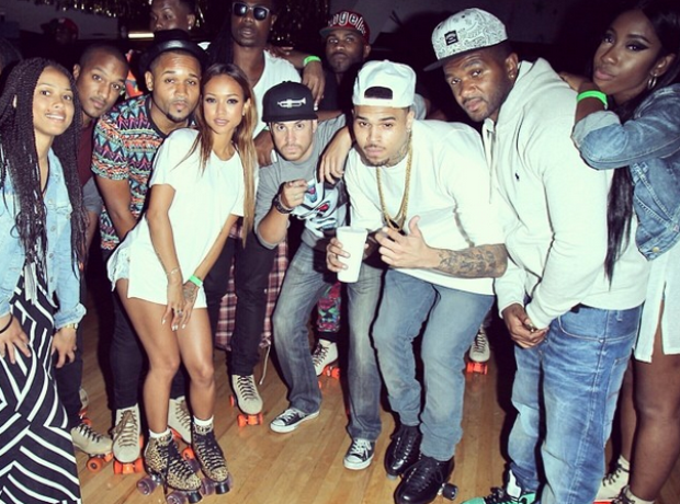 Chris Brown Roller skating