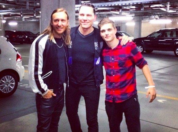 David Guetta, Tiesto And Martix Garrix In A Car Pa