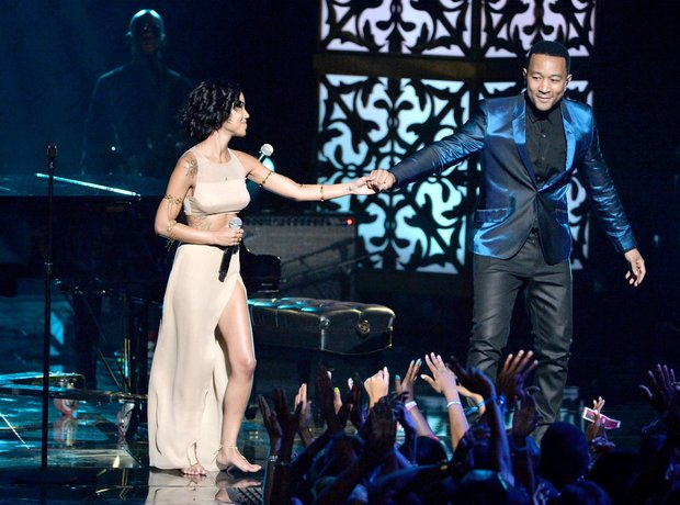 Jhene Aiko John Legend BET Awards 2014