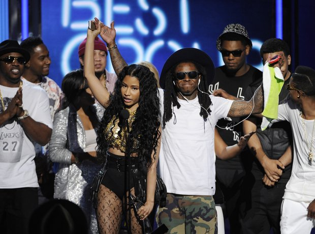 Nicki Minaj, Lil' Wayne and Young Money at BET
