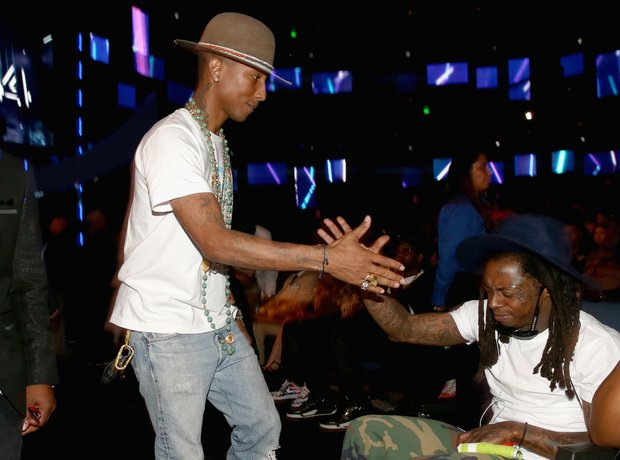 Pharrell Williams and Lil Wayne at the BET Awards