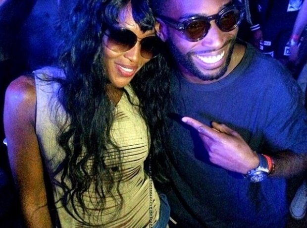 Tinie TEmpah and Naomi Campbell at Wireless Festival 2014