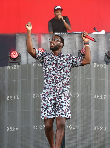 Tinie Tempah and DJ Charlesy at Wireless Festival