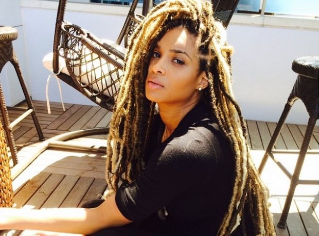 Ciara with new dreadlocks