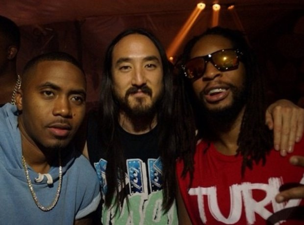 Nas, Steve Aoki And Lil' Jon On Instagram