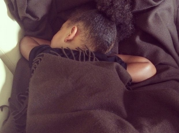 Blue Ivy asleep