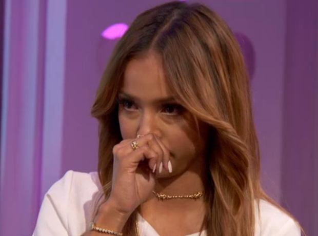 Karrueche Tran crying