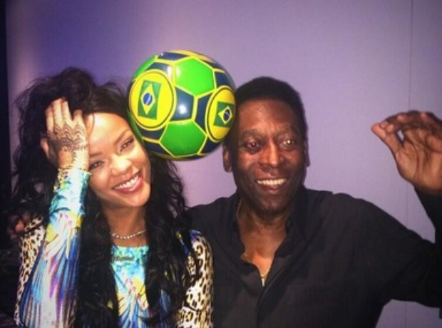 Rihanna with Pele