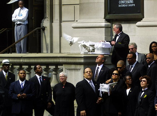 Aaliyah's funeral