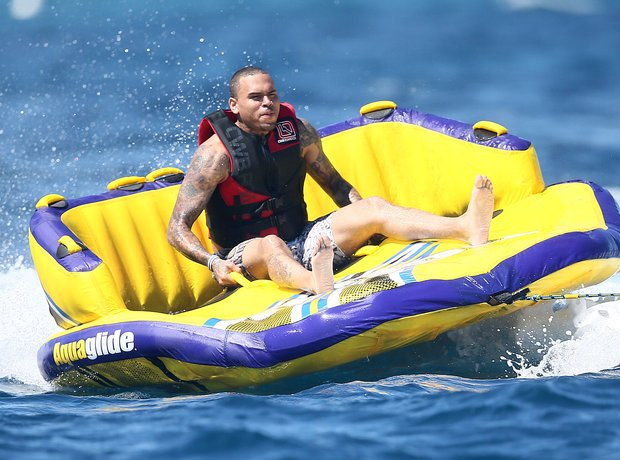 Chris Brown spotted on holiday.