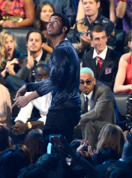 Drake Walking Past Chris Brown