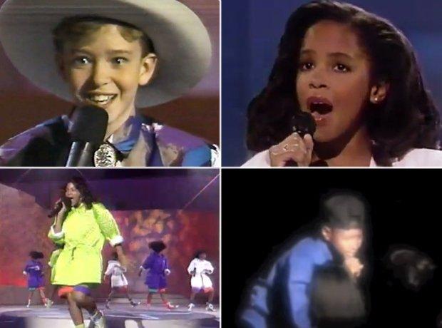Justin Timberlake, Aaliyah, Beyonce and Usher Star