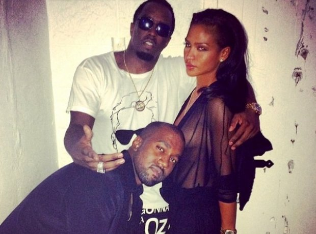 Kanye West with Diddy in Ibiza