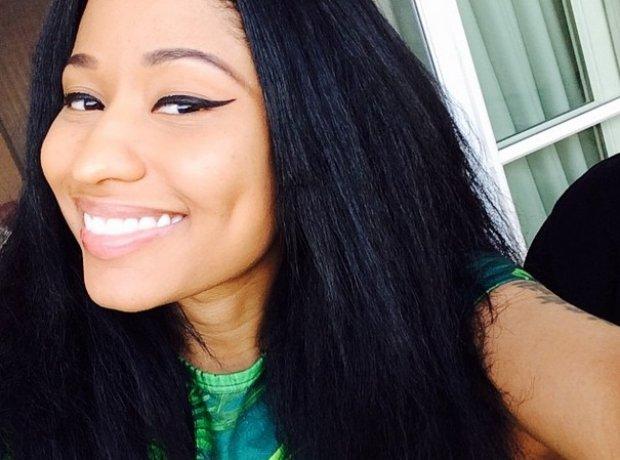 Nicki Minaj smiling