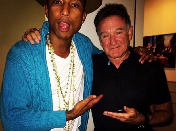 Pharrell and Robin Williams