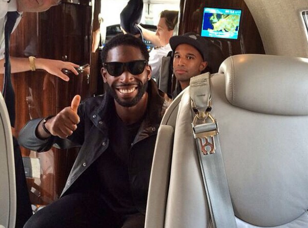 Tinie Tempah private jet