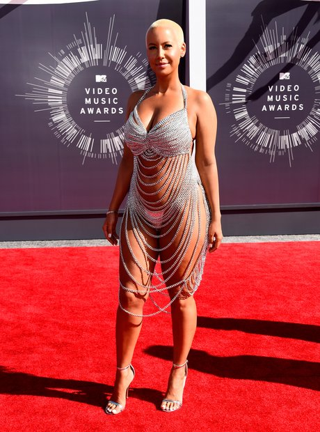 Amber Rose VMAs 2014 red crpet