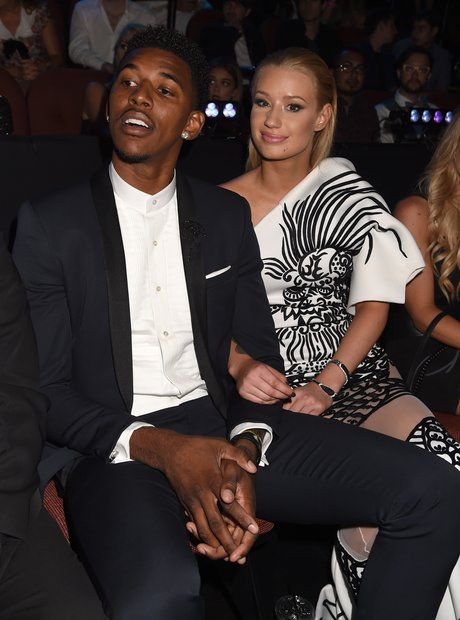 Nick Young and Iggy Azalea at the VMAs 2014