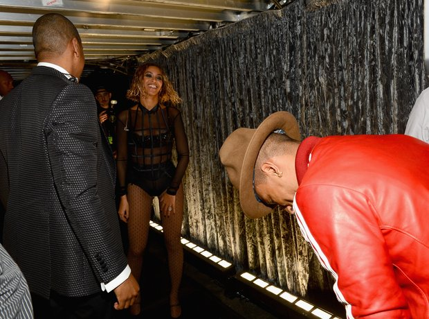 Beyonce and Pharrell Williams