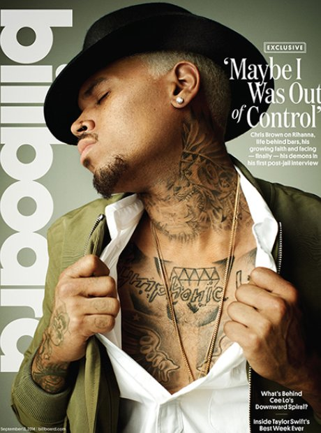 Chris Brown on the cover of Billboard Magazine