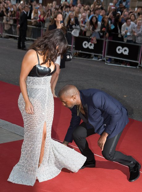 Kim Kardashian and Kanye West  at the GQ Awards 20