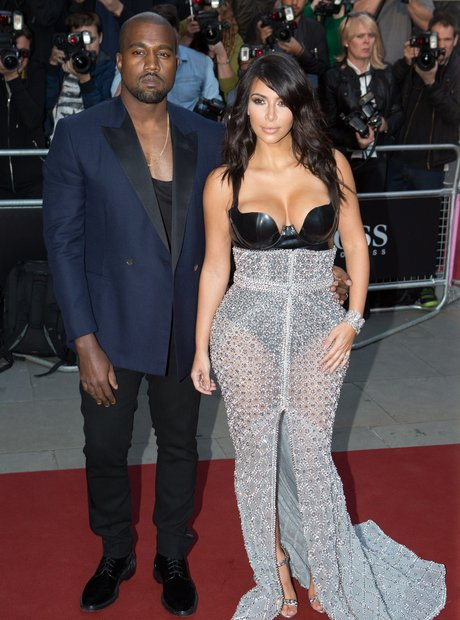 Kim Kardashian and Kanye West  at the GQ Awards 20