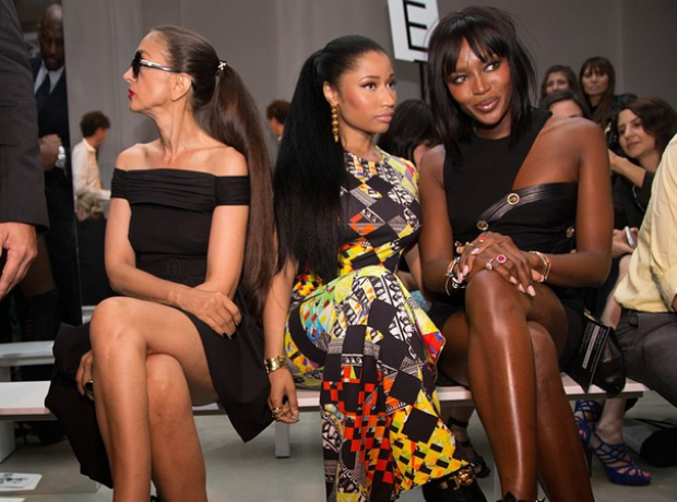 Nicki Minaj Naomi Campbell New York Fashion Week 2