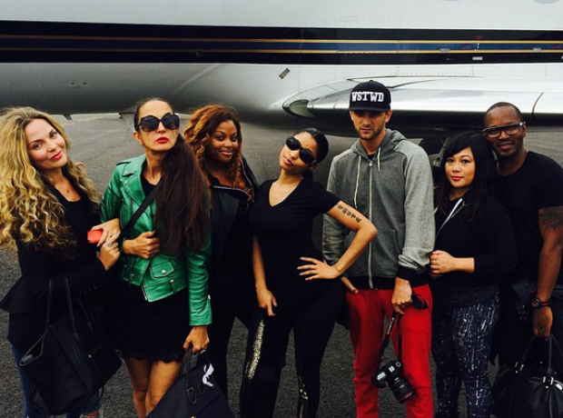 Nicki Minaj travelling