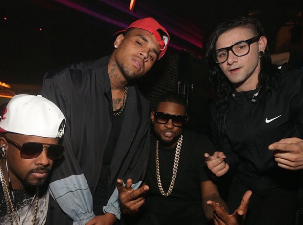 Chris Brown Skrillex and Usher