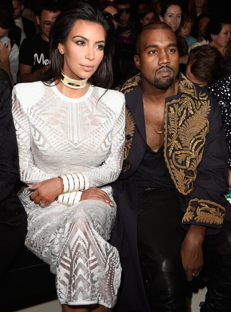 Kim Kardashian Kanye West Paris Fashion Week 2014