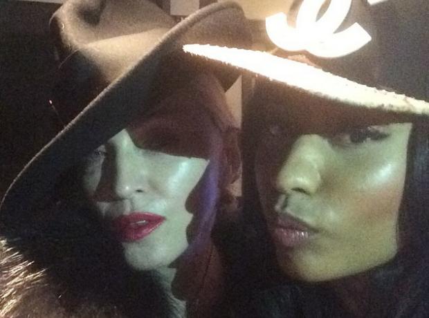 Nicki Minaj and Madonna Instagram