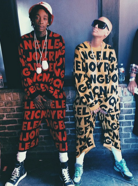 Wiz Khalida and Amber Rose matching outfits Instag
