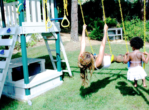 Beyonce and Blue Ivy Swing