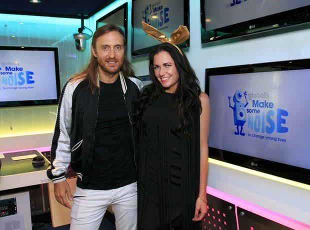 David Guetta and Toni Phillips