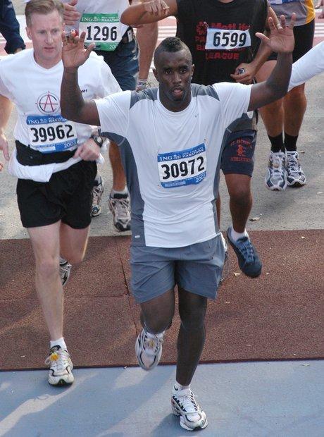 P Diddy Sean Combs NYC Marathon