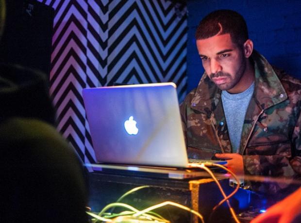 Drake on laptop
