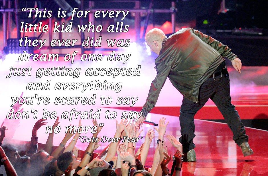 Lyric i m not afraid eminem lyrics : 16 Of Eminem's Most Inspirational Lyrics Ever - Capital XTRA
