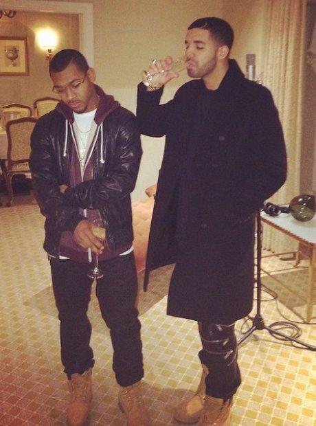 Drake celebrating his birthday