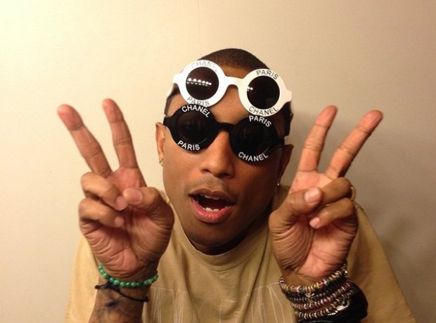 Pharrell wearing Chanel sunglasses